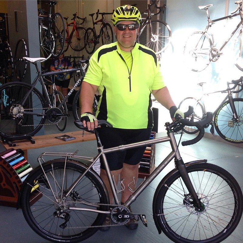JW and his @seven_cycles Evergreen SL #sevencycles