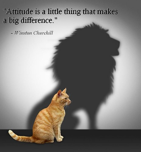 Thursday Thoughts attitude is a little thing that makes a big difference