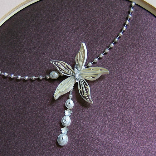Quilled Orchid - Detail