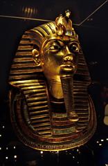 Ägypten 1999 (596) Kairo: Totenmaske Tutanchamuns, Ägyptisches Museum