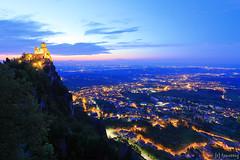 Rocca Guaita at night