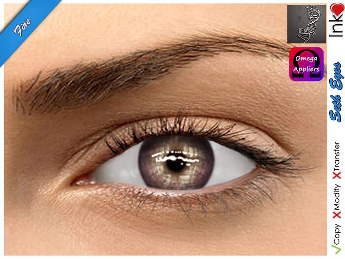 * Inkheart * - Seth Eyes - Fire (4 Sizes Mesh + System + Omega & Genesis Applier) - SecondLifeHub.com
