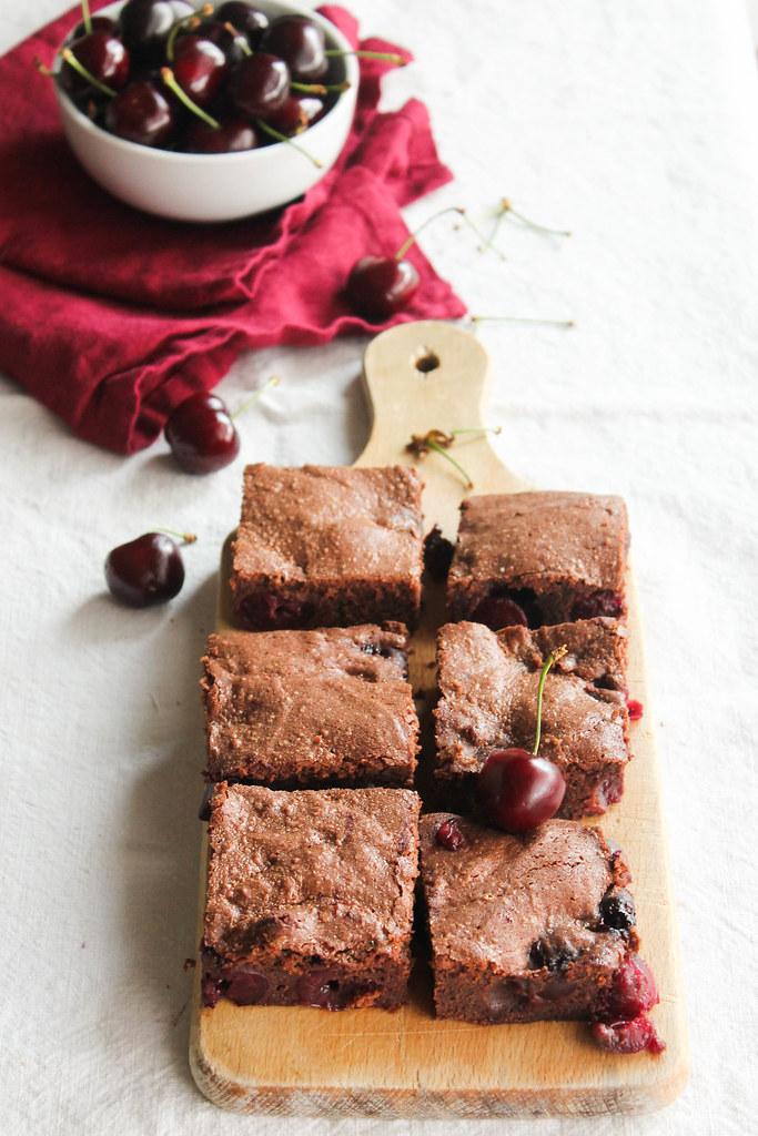 Brownie aux cerises recette