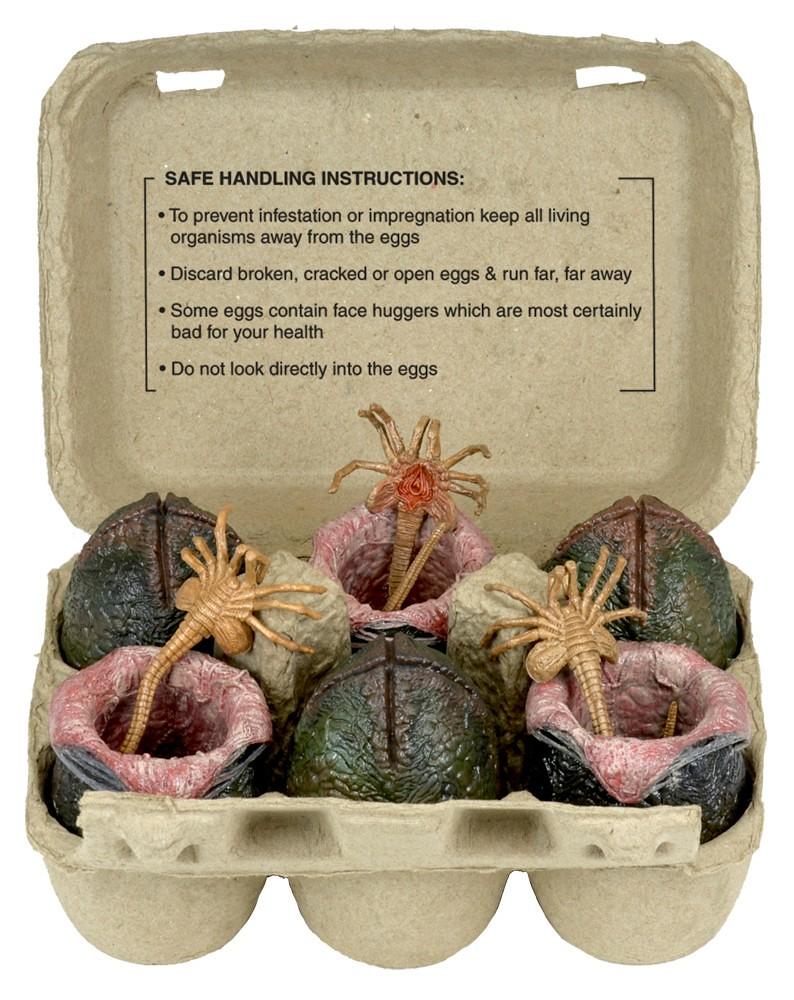 產地直送保證新鮮!NECA 推出紙蛋盒裝「異形蛋」收藏組