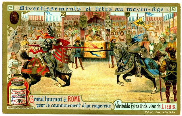 Liebig Tradecard S699 - Grand Tournament in Rome