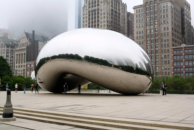 A visit to the bean on a foggy morning