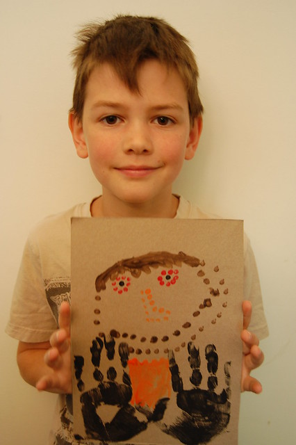 2 Aboriginal Dot Painting - E