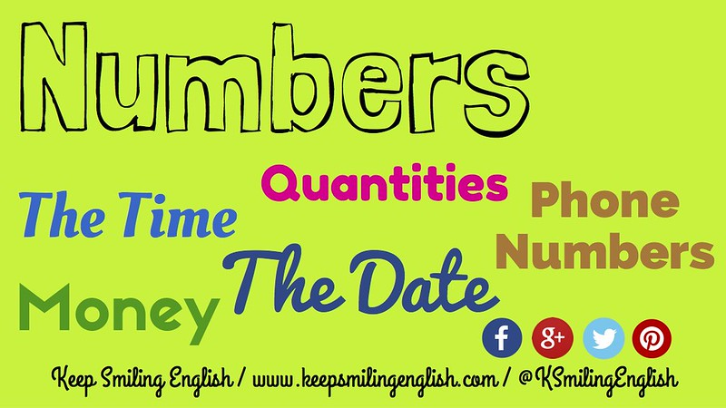 The Numbers In English: 5 Essential Uses - KSmilingEnglish
