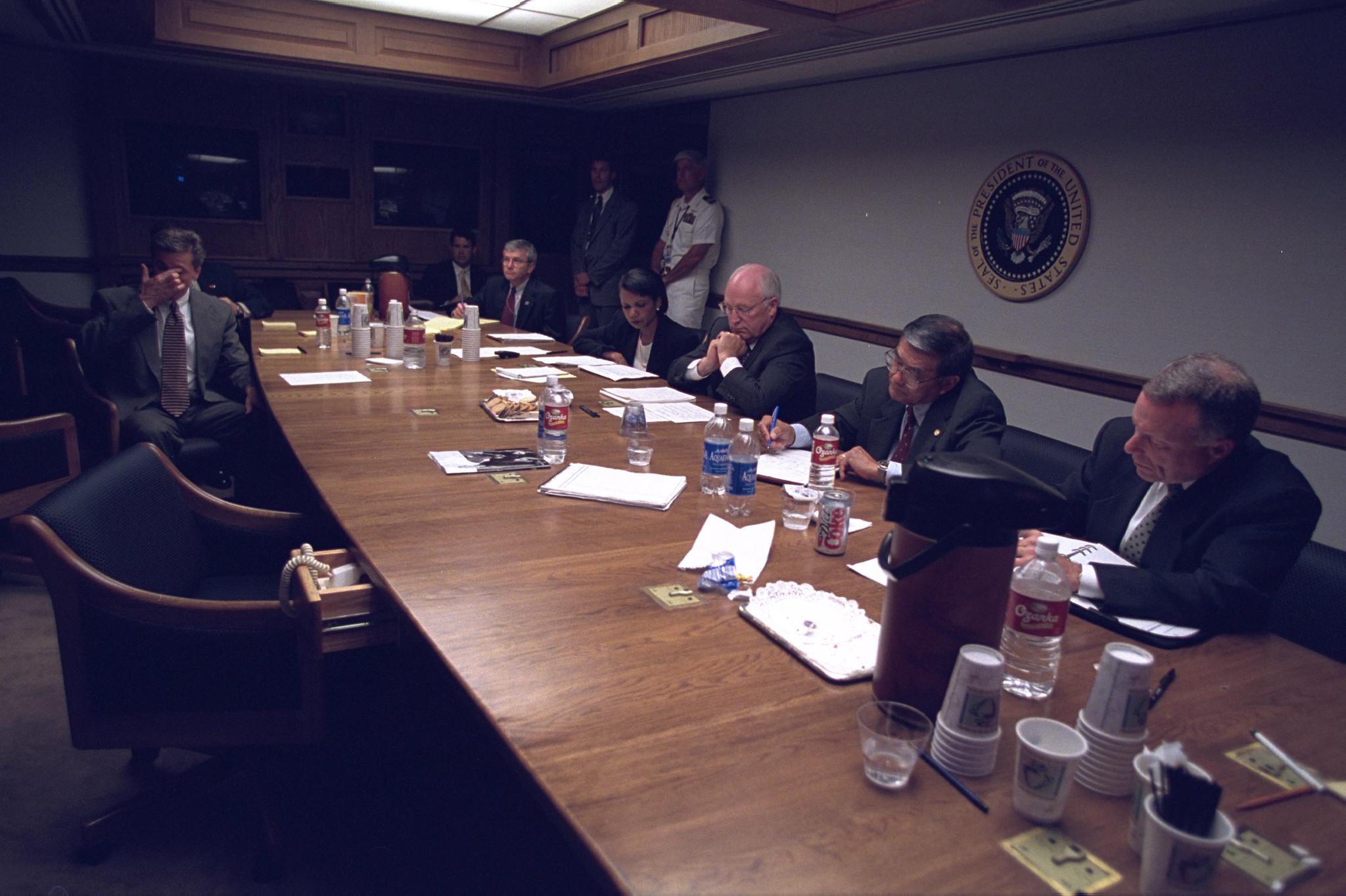 Senior Staff in the President's Emergency Operations Center (PEOC)