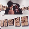 Chattin' with friends & celebrating Tracy's amazing gallery show! #art #nyc #pyrography @redladylocks #gallery #weekend