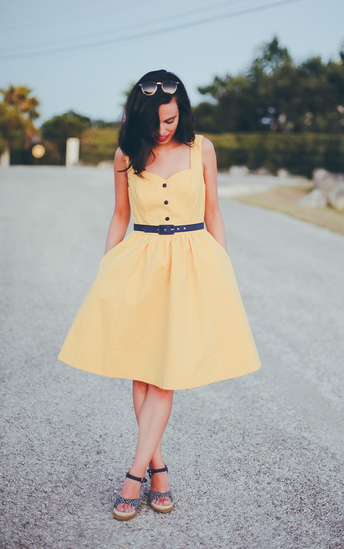 modcloth yellow dress