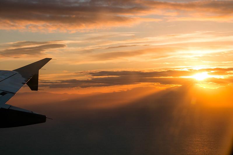 sundown above reykjavik