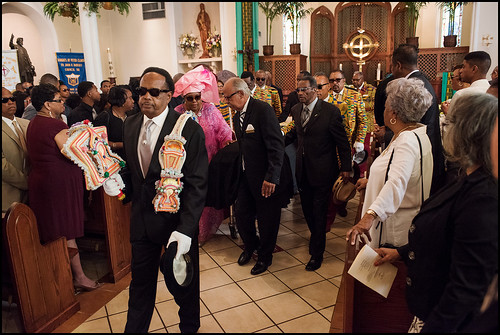 Funeral of Edwin Harrison on October 21, 2016 at St. Peter Caver Church in Treme. Photo by Ryan Hodgson-Rigsbee - rhrphoto.com