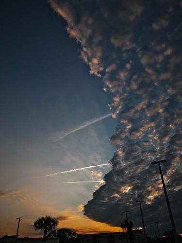 sunset cloud sky