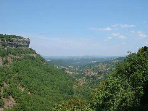 Autoire - Point de vue sur la vallée (Siran)