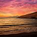 Sunset at Matala beach on Crete island, Greece-motoros redőnyök