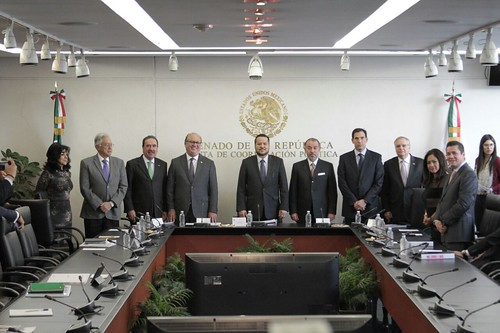El miércoles 15 de febrero de 2017 se llevó a cabo en el Senado de la República la  Reunión de trabajo con Graco Luis Ramírez Garrido, Presidente de la Conago y Raúl Cervantes Andrade, titular de la PGR.