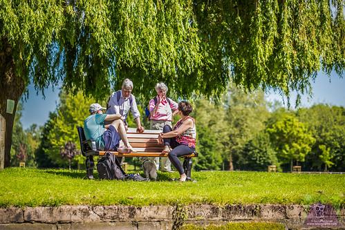 Park bench encounter