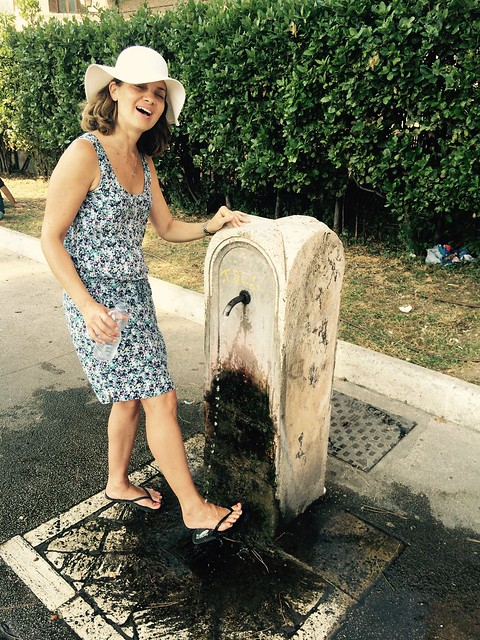 Salvation comes in the form of water fountains