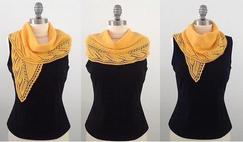 Composite - Yellow Dawn shawlette