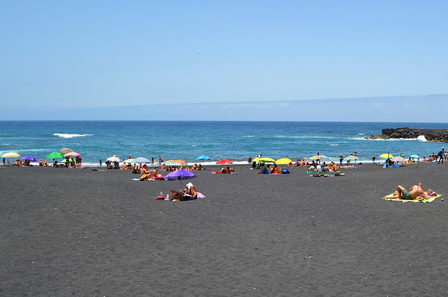 Sunbathing, Playa Jardin, Puerto de la Cruz, Tenerife
