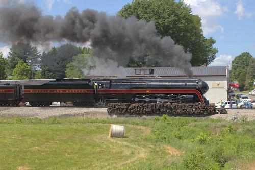 virginia steam dryfork norfolkandwestern classj nw611 norfolksouthernrailway 656dryforkrd