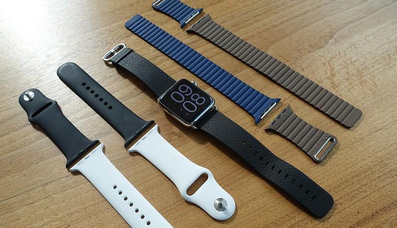 Apple Watch mit Armbänder