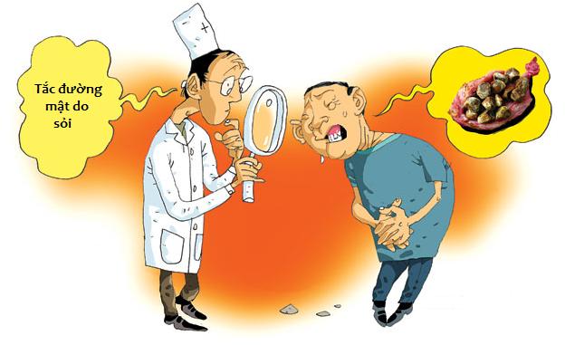 Đau hạ sườn phải, vàng da, ngứa có thể là triệu chứng của tắc nghẽn đường mật