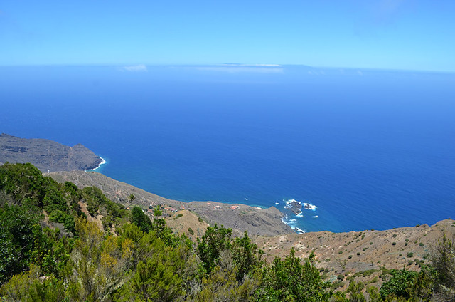 The Atlantic from above Vallehermoso, La Gomera, Canary Islands