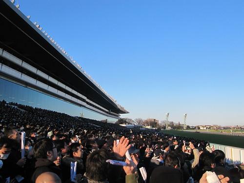 中山競馬場の有馬記念当日の様子