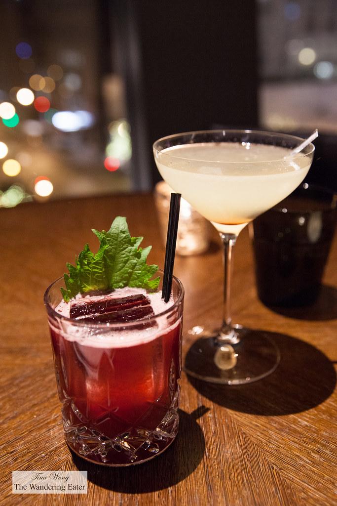 Huck Ginn and Corpse Reviver #2 cocktails | NoMI Kitchen Par