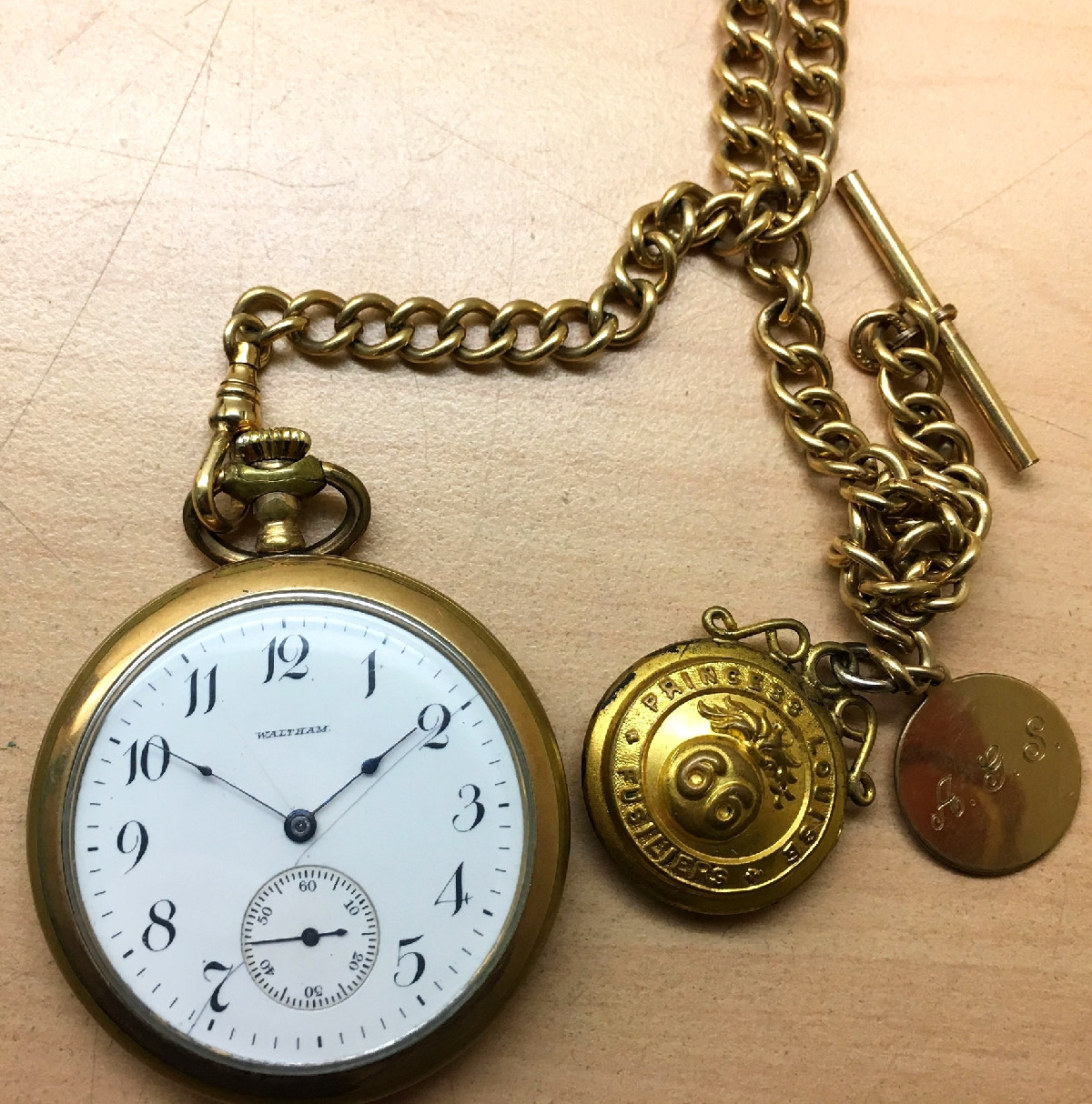 Waltham pocket watch once owned by a World War I veteran.. Credit Ross Dunn