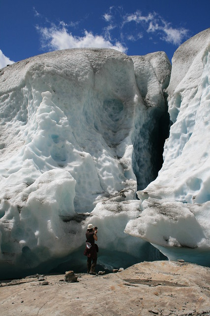At the edge of the glacier