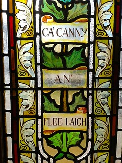 Ca' Canny an flee laich