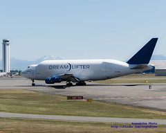 The Dreamlifter Nosewheels Touch Down...