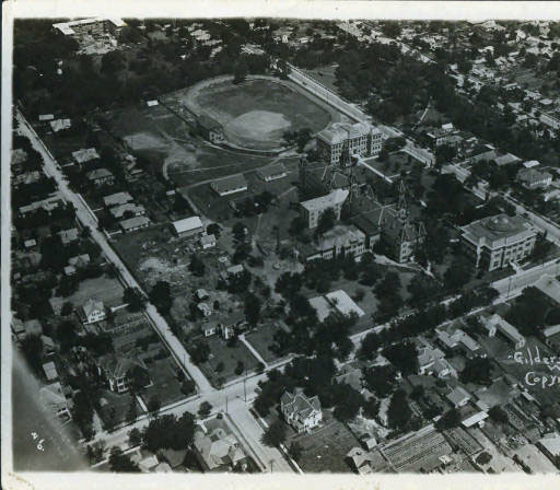 Baylor University, aerial view, 1920s