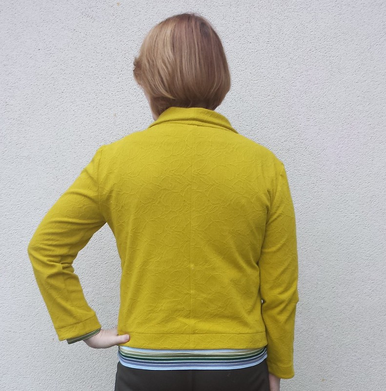 Grainline Morris blazer in knit from Darn Cheap Fabrics