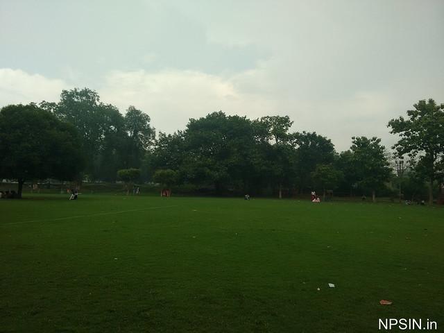 The view of garden area in Maa Durga Mandir