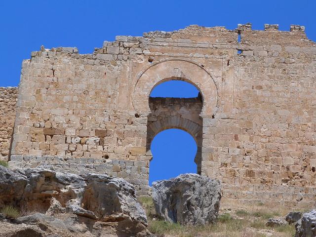 Detalle del castillo de Gormaz (Soria)