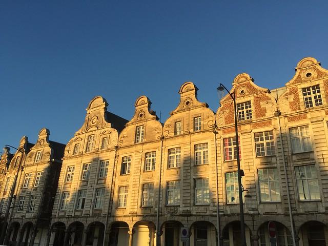 Fachadas en la Grand Place de Arras (Norte de Francia)