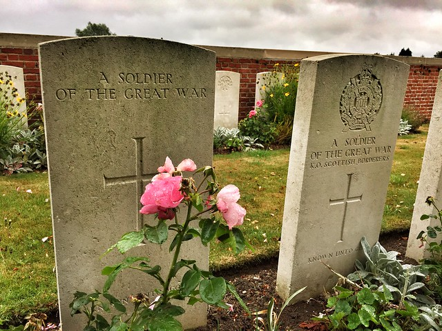 Tumba de la I Guerra Mundial en el Norte de Francia