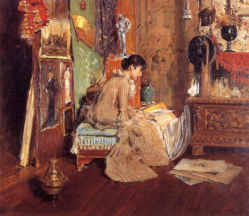 Connoisseur - The Studio Corner by William Merritt Chase, c.1883