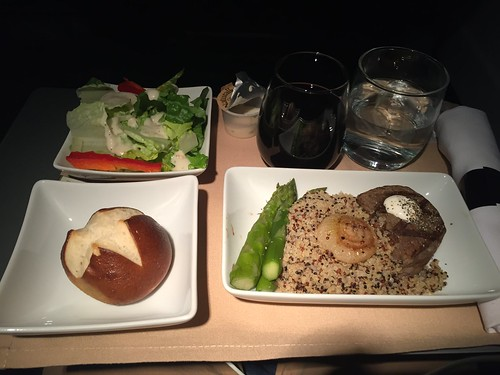 american airlines inflight meal airline food
