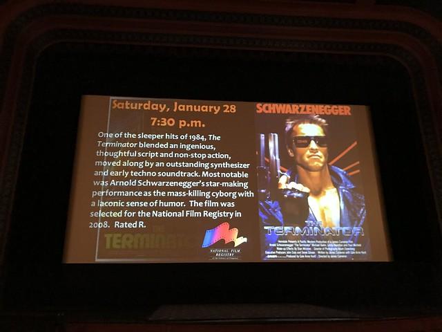 Terminator slide from LOC Packard pre-movie show