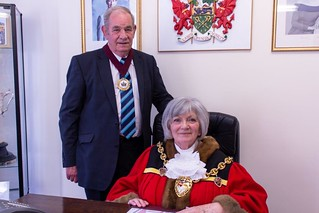 The Mayor for 2015/2016 is Councillor Barbara Roxburgh who is accompanied by her Consort Malcolm Roxburgh