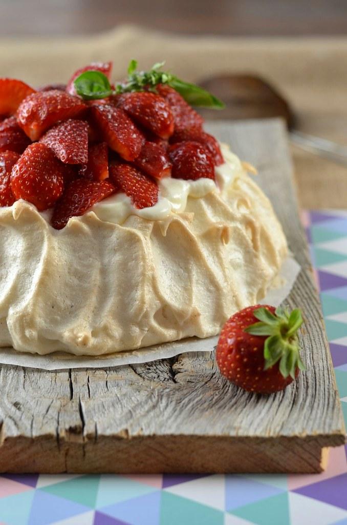 Pavlova aux fraises