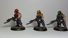 'The Marked Ones' Azure Silence Chaos Cultist (Left) (Painting Commission for Weijen) (Assassinorum: Execution Force Chaos Cultist Miniatures)
