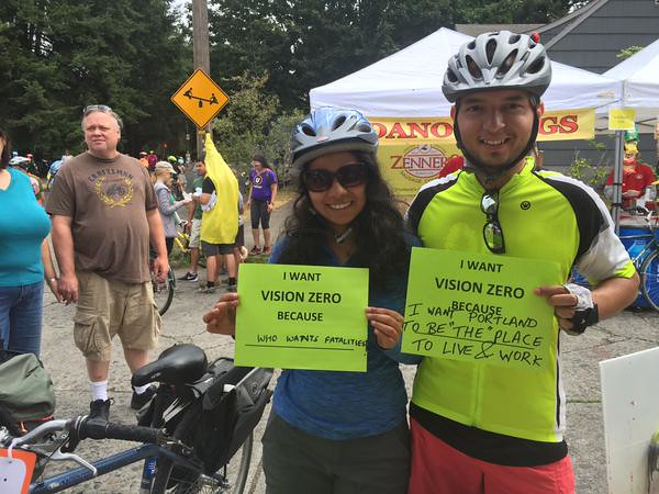 Vision Zero at Sunday Parkways 2015