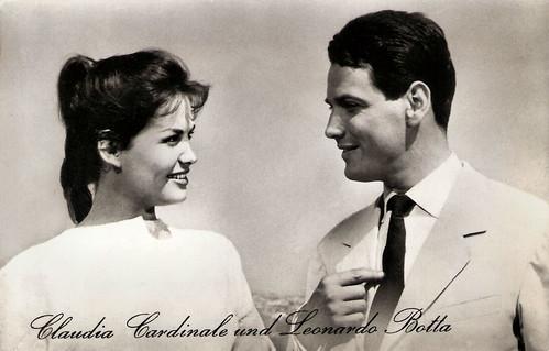 Claudia Cardinale and Leonardo Botta in Tre straniere a Roma (1958)