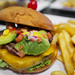 Spicy Jack Stacked Burger - Jalapenos, pepper jack, cheddar, avocado, corn salsa, cilantro ranch, and 2 patties - The Green Turtle by sheryip